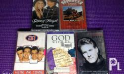 cassette tapes Brand New and still SEALED buy all at 50