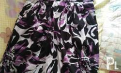 Floral lavender with black tube dress. Used once. Price