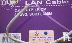 CAT5E UTP cable UL listed . Taiwan made . Open for