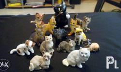Figurines cats for display Hard to find figures Laguna