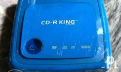DVD PLAYER CD R KING BLUE DVD only no wires and cables,