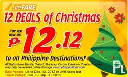 12 DEALS OF CHRISTMAS!!! FOR AS LOW AS PHP 12.12 TO ALL