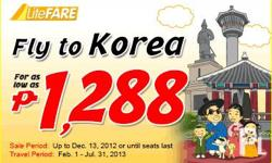 HURRY!!! FLY TO KOREA FOR AS LOW AS PHP 1,288 SALE