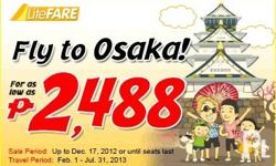 CEBU PACIFIC PROMO FARE FOR AS LOW AS PHP2,488 FLY TO