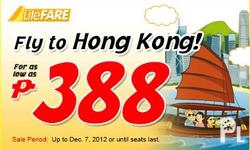 CEBU PACIFIC PROMO FARE FOR AS LOW AS PHP 388 PLANNING