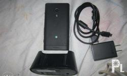 Sony Xperia Acro S LT26w with charger.. No defect. text