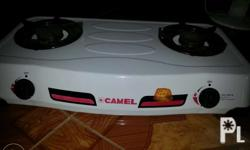 CAMEL GAS STOVE 2 burner with tunk. Magnetic ignition