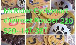 CHAINSET for ROUSER 220,180,135 PRICE ROUSER 135 - 800