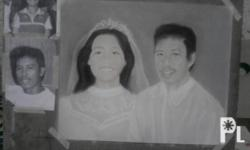 minimum price 500 pesos per head sa portrait charcoal