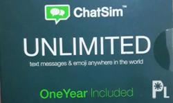 CHAT SIM UNLIMTED, can be used overseas or by
