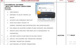 Checkwriter Software With Free Printer Canon Pixma