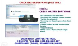 Check Writer Software (Full Version) *Incoming and