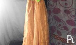 Rush Sale Children orange long gown Price:650 *Price is
