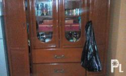 Hand made Fine China cabinet with two drawers and three