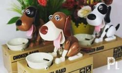 This is a cute Coin Bank machine. This robotic dog will