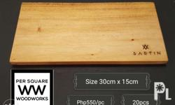 This chopping boards are being used as plate, we supply