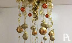 Christmas Decoration For hanging Gold and orange color