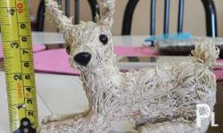 Cute Mini Sitting Reindeer Made from Corn Husks Perfect
