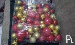 good as new red and gold motif good for 5ft xmas tree