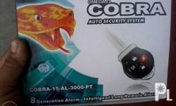 cobra alarm with key is an alarm has a key attach to