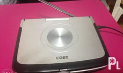 COBY TV/DVD Player with Charger and Headset. Good as