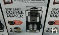 Coffee maker w/ grinder, damage proof filter 200g