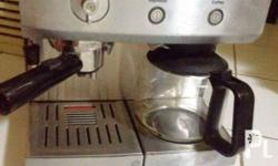Complete set slightly used branded coffeemaker. Item