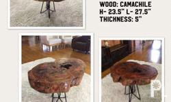 Camachile wood Coffee table with iron legs (sold