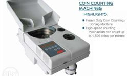 COIN COUNTER MACHINE - Heavy Duty Coin Counting/