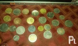 assorted foreign old coins 1940s 1950s 1960s 1970s etc.