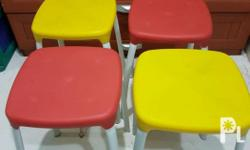 Colored stool type chairs. 200 each. Last price nana.