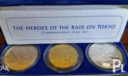 Heroes of the Raid on Tokyo Commemorative Coin Set