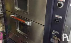 A commercial gas oven perfect for bakeries and
