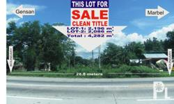 Commercial lot with clean title - a total of 4,282 sq.