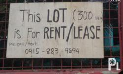 300 sqm lot for rent or for lease with rooms