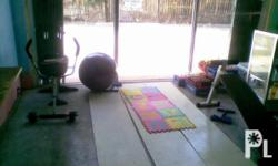 Deskripsiyon complete set of gym equipments free