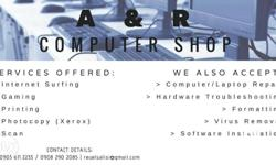 Services Offered : > Computer / Laptop / Notebook /