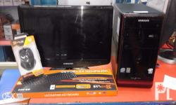 SLIGHTLY USED DESKTOP PACKAGE BRAND: SAMSUNG CORE 2 DUO