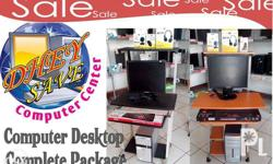computer set with free table and computer chair plus