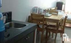 It's fully furnished condo unit. It has wifi. It can be
