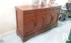 Wooden console table with drawers and cabinets FIXED