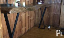 Console table and center table made from acacia and