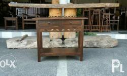 Console Tables, fretted design, acacia wood, 3 sizes: