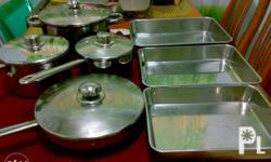 Cook Ware Set 11pcs. Pure Stainless Steel Second Hand
