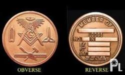 These coins can be easily engraved with your Lodge and