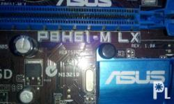 Core i3 2100, 3.1ghz. Asus P8H61-M LX motherboard, Good