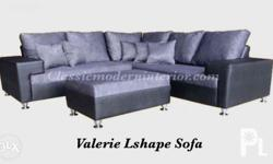 "Valerie L-Shape Sofa Set. Dimension: Length: 89""x 89"" x"