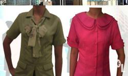 Customized corporate pants and blouse uniforms in your
