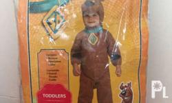 Preloved scooby doo costume for toddler 3-4yrs old.