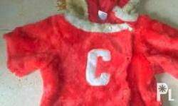 Cheerleader Costume (Red) P280 Size: 0-12 on tag but